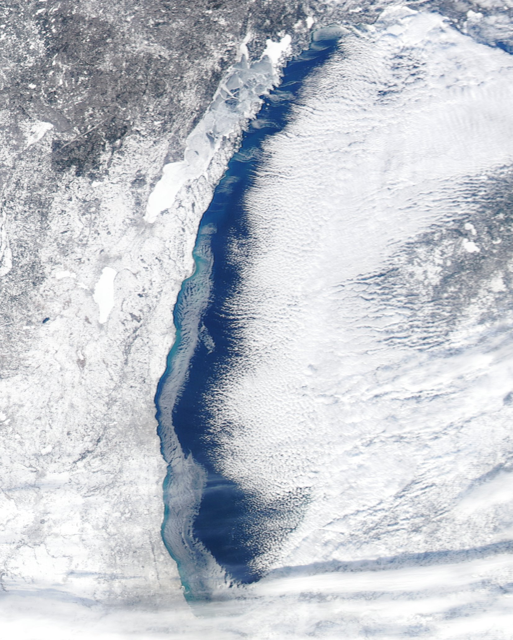 Lake Michigan currently has 87 percent ice coverage, which is unheard of, and will most likely be a record before this winter is over.